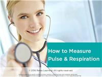 How to Measure Pulse and Respiration